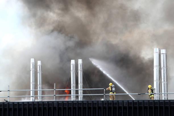 Smoke Blankets Auckland CBD As Fire Burns At SkyCity Convention Centre:ニュース(壁紙.com)