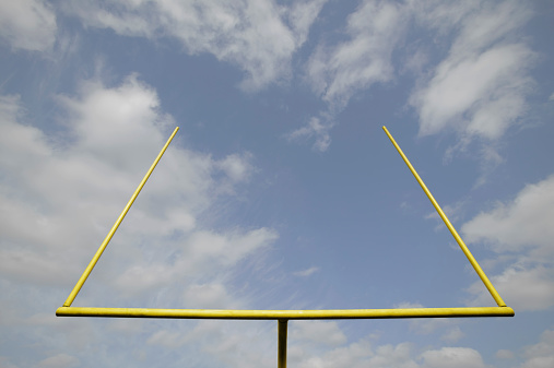 Goal Post「Football goal post, low angle view」:スマホ壁紙(3)