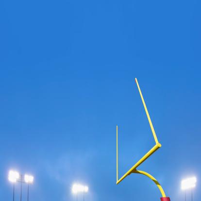 Goal Post「Football goalpost and stadium lights.」:スマホ壁紙(2)