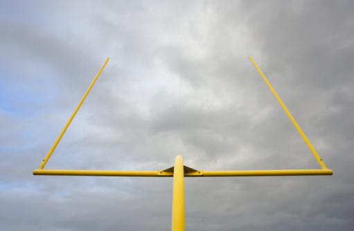 Goal Post「Football goalposts, low angle view」:スマホ壁紙(1)