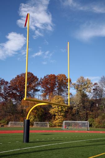 Goal Post「Football Goal Post & Autumn Trees」:スマホ壁紙(7)