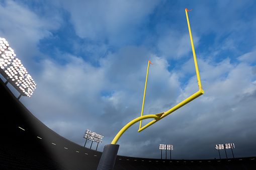Sports Target「Football Goal Posts in Stadium」:スマホ壁紙(16)