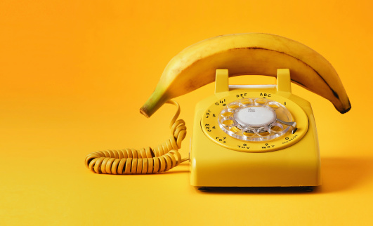Old-fashioned「banana phone」:スマホ壁紙(12)