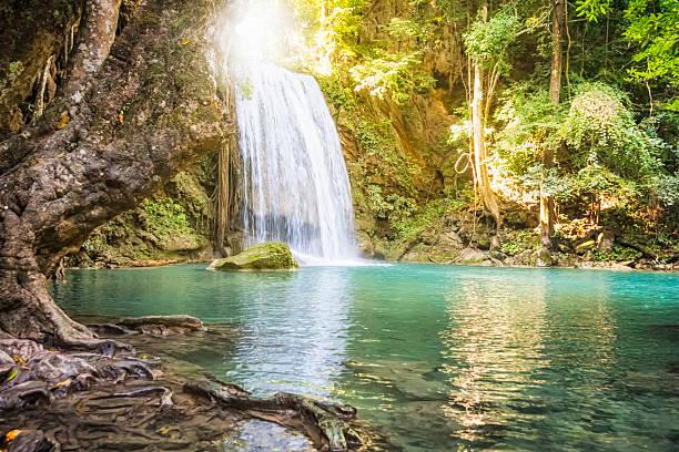 Erawan Waterfall - Thailand:スマホ壁紙(壁紙.com)
