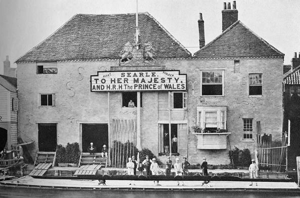 Water's Edge「'Searle's Boathouse, 1850-1870', 1935」:写真・画像(1)[壁紙.com]