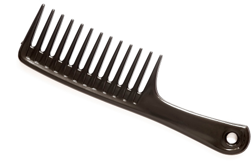 Hair Care「A large black comb on a white background」:スマホ壁紙(9)