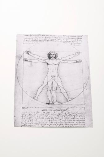名画「Leonardo da Vinci's Vitruvian Man」:スマホ壁紙(1)