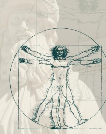 名画「Leonardo da Vinci's vitruvian man」:スマホ壁紙(5)