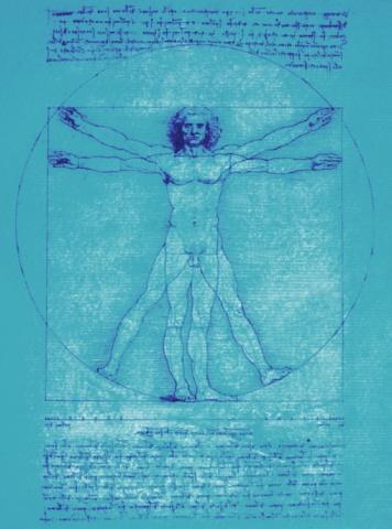 名画「Leonardo da Vinci's vitruvian man」:スマホ壁紙(9)