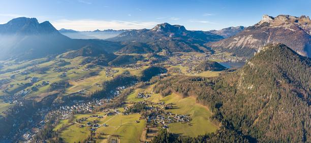 Dachstein Mountains「Bad Aussee, Steiermark, Ausseerland, Panorama, Austrian Alps」:スマホ壁紙(4)