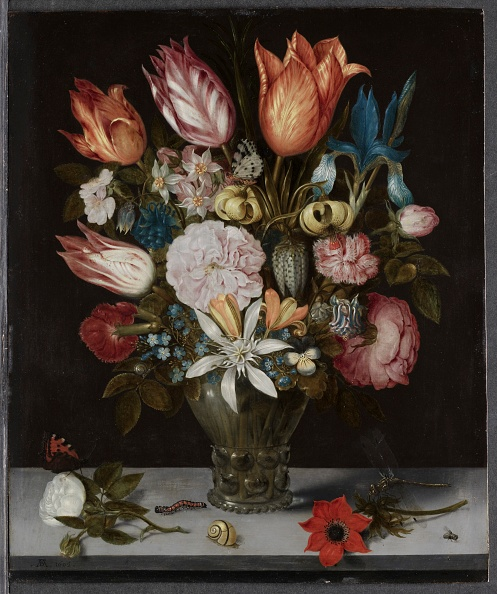 Oil Painting「Flowers In A Glass」:写真・画像(4)[壁紙.com]