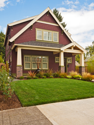 USA「Classic-style, new American home exterior」:スマホ壁紙(18)