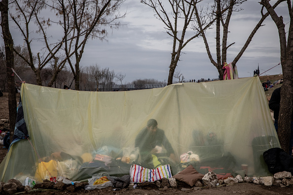 Tent「Migrants Continue To Wait At The Turkish Greek Border」:写真・画像(15)[壁紙.com]