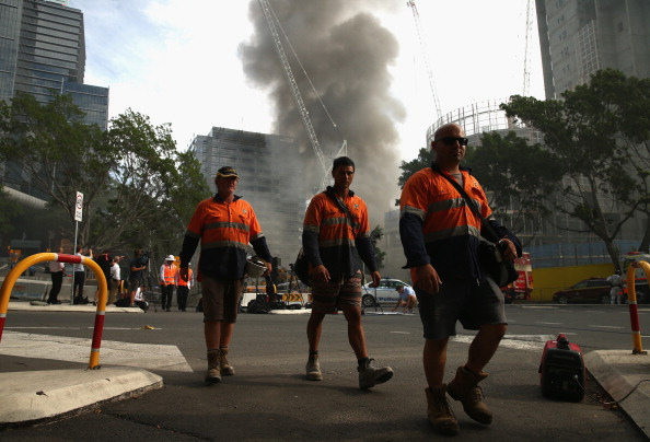 オーストラリア「Fire Breaks Out At Barangaroo In Sydney CBD」:写真・画像(1)[壁紙.com]