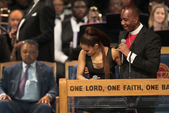 Ariana Grande「Soul Music Icon Aretha Franklin Honored During Her Funeral By Musicians And Dignitaries」:写真・画像(10)[壁紙.com]