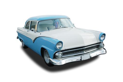 Restoring「Photo of classic car, blue 1955 Ford Fairlane」:スマホ壁紙(11)