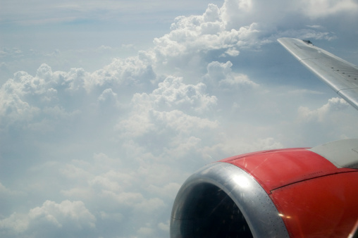 Mid-Air「Photo of clouds from inside airplane」:スマホ壁紙(10)