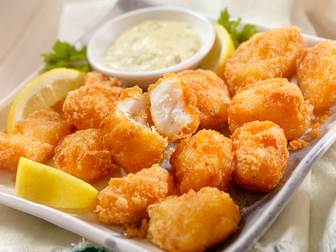 Deep Fried「Beer Battered Fish Bites with Tarter Sauce」:スマホ壁紙(6)