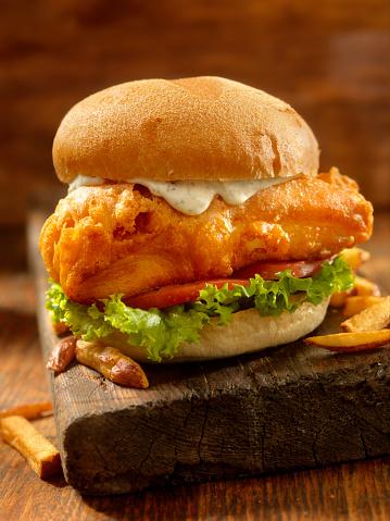 Crunchy「Beer Battered Fish Burger」:スマホ壁紙(10)