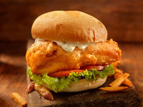 Pub Food「Beer Battered Fish Burger」:スマホ壁紙(12)