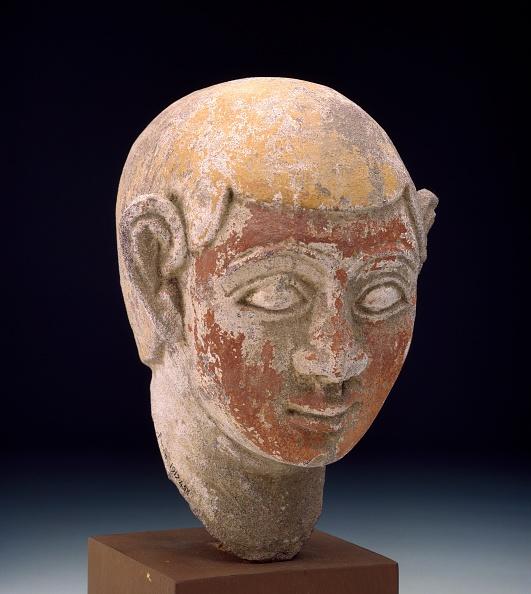 Male Likeness「Painted Sandstone Head Of A Ba-Statue」:写真・画像(2)[壁紙.com]