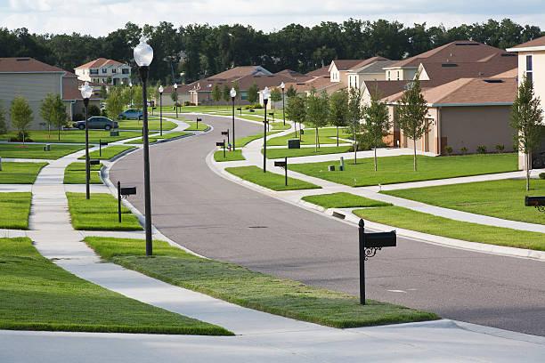 Houses on suburban block, Apopka, Florida:スマホ壁紙(壁紙.com)