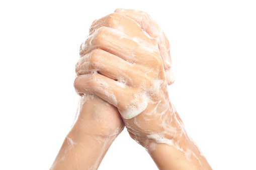 Human Hand「Soapy Hands Clasped Together」:スマホ壁紙(0)