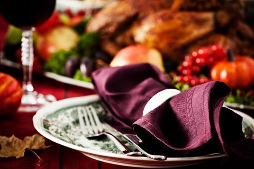 Stuffed Turkey「Place Setting for Holiday Dinner」:スマホ壁紙(16)