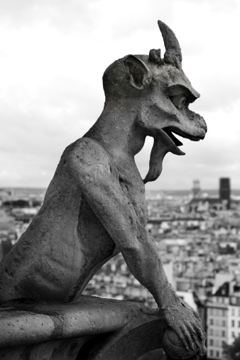 Animal Arm「Gargoyle in Paris Black and White」:スマホ壁紙(19)