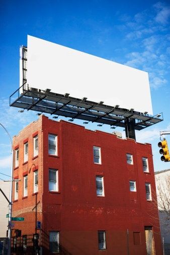 Advertisement「Blank billboard on urban building」:スマホ壁紙(19)