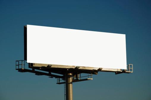 Market - Retail Space「Blank billboard at sunset」:スマホ壁紙(14)