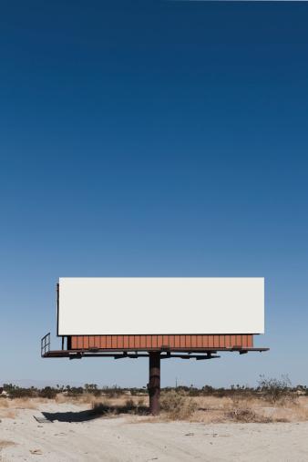 California「A blank billboard in a desert」:スマホ壁紙(16)