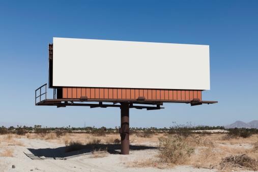 Road Sign「A blank billboard in a desert」:スマホ壁紙(14)