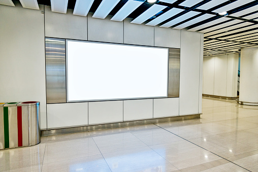 Advertisement「Blank billboard in subway station」:スマホ壁紙(2)