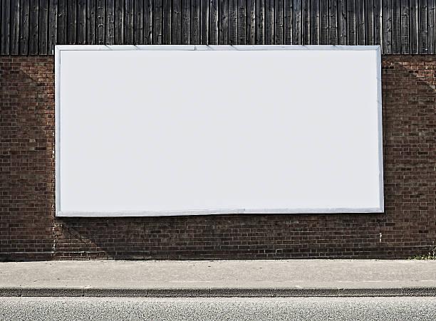 Blank Billboard On Brick Wall:スマホ壁紙(壁紙.com)