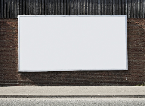 Marketing「Blank Billboard On Brick Wall」:スマホ壁紙(6)