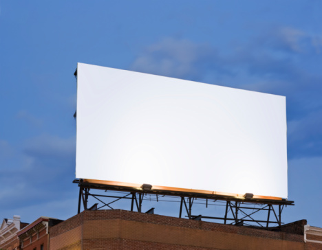 Mid-Atlantic - USA「Blank Billboard Sign on Building Rooftop」:スマホ壁紙(18)