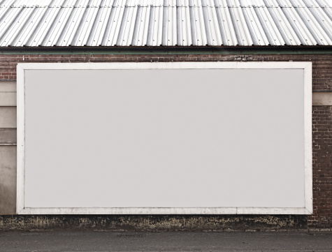 Marketing「Blank Billboard On Brick Building」:スマホ壁紙(6)