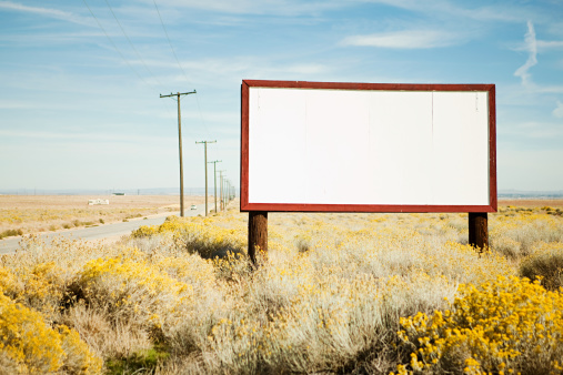 City Of Los Angeles「Blank billboard at roadside」:スマホ壁紙(4)