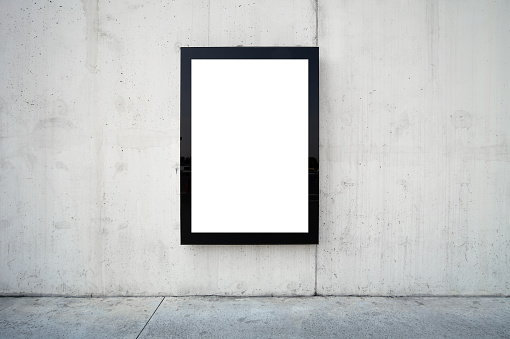 Full Frame「Blank billboard on wall.」:スマホ壁紙(16)