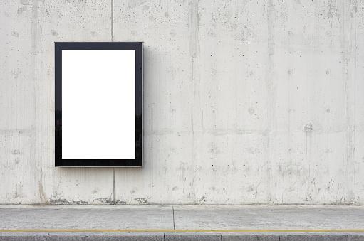 Texture「Blank billboard on wall.」:スマホ壁紙(0)