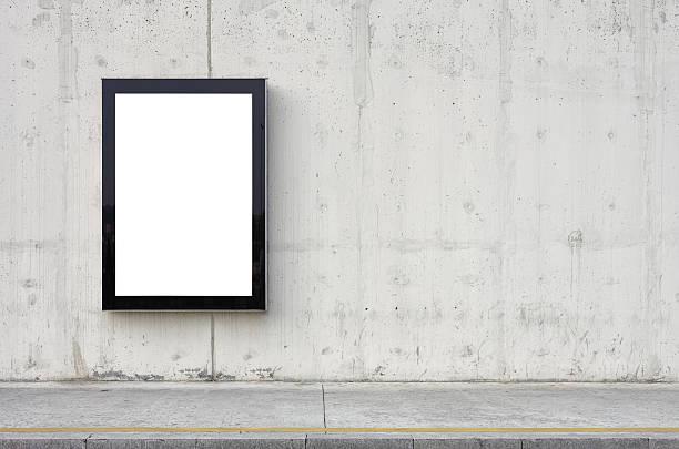 Blank billboard on wall.:スマホ壁紙(壁紙.com)