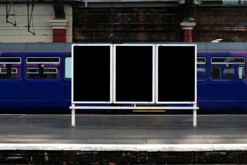 City Life「Blank billboard in train station」:スマホ壁紙(7)