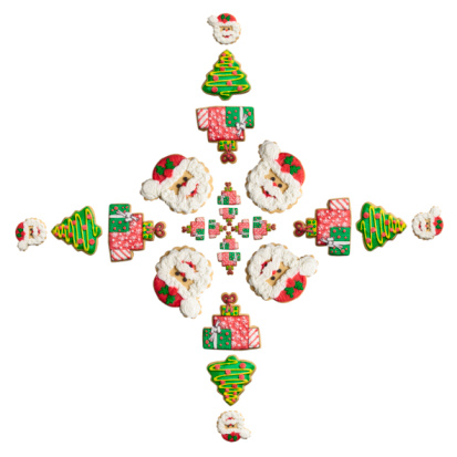 Sweet Food「Santa, Tree and Gift Snowflake Cookie」:スマホ壁紙(16)