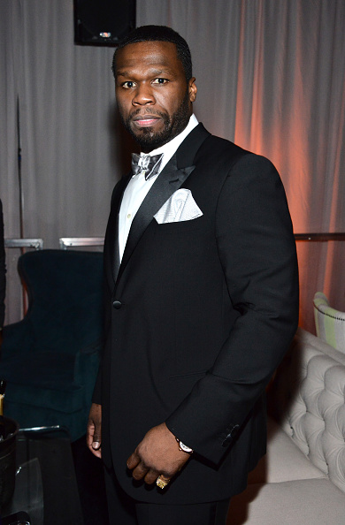 50 Cent - Rapper「The Weinstein Company & Netflix's 2015 Golden Globes After Party Presented By FIJI Water, Lexus, Laura Mercier And Marie Claire - Inside」:写真・画像(7)[壁紙.com]