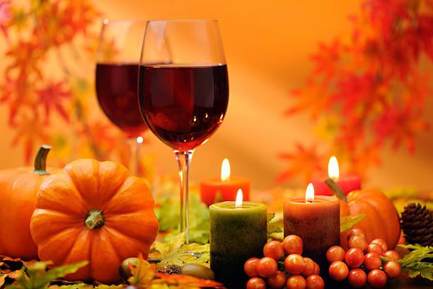 レッドワイン、秋の装飾:スマホ壁紙(壁紙.com)