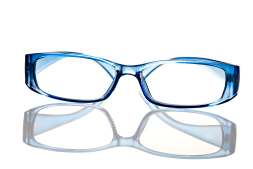 Eyeglasses「Reading glasses on white background」:スマホ壁紙(2)