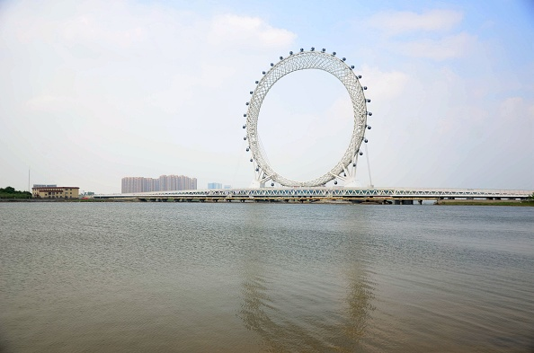 Geometric Shape「World's Largest Spokeless Ferris Wheel 'Bohai Eye' Opens In Weifang」:写真・画像(19)[壁紙.com]