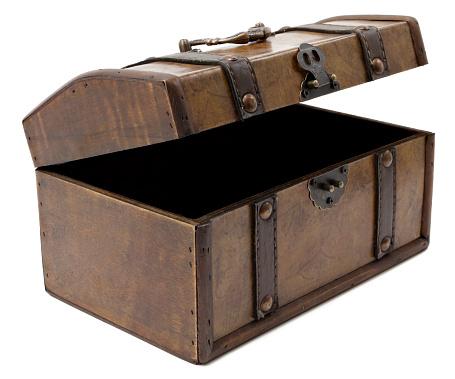 Trunk - Furniture「Open antique chest」:スマホ壁紙(2)
