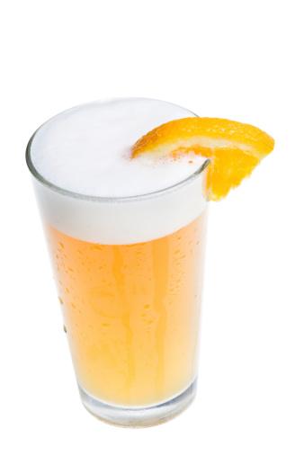 Orange - Fruit「Microbrew Beer with Orange Slice」:スマホ壁紙(3)